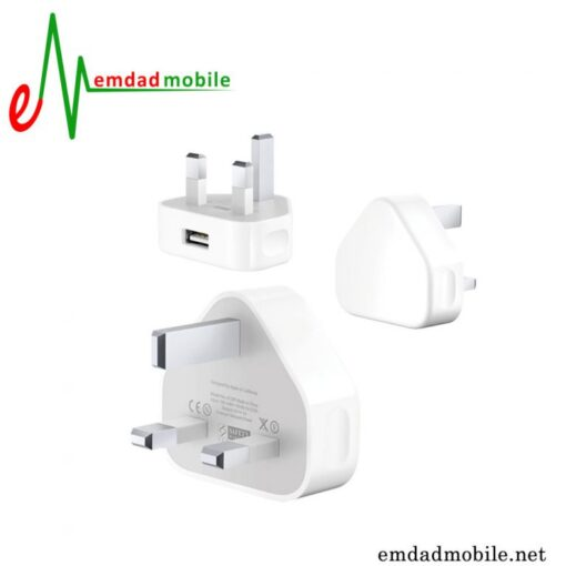 قیمت خرید آداپتور شارژر اصلی اپل 1 آمپر و 5 ولت - Apple iPhone 4 & 4s 3Pin MD812