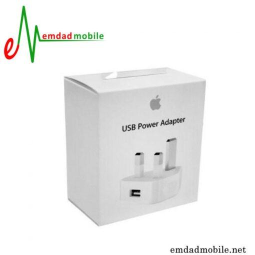 قیمت خریدآداپتور شارژر اصلی اپل 1 آمپر و 5 ولت - Apple iPhone 4 & 4s 3Pin MD812