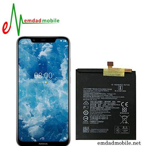 قیمت خرید باتری اصلی گوشی نوکیا Nokia 8.1 (Nokia x7) - HE377