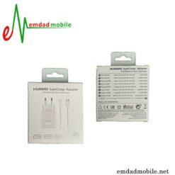 قیمت خرید سوپر شارژر و کابل USB اصلی هوآوی 4.5 ولت 5 آمپر Huawei Super Charger + Type C
