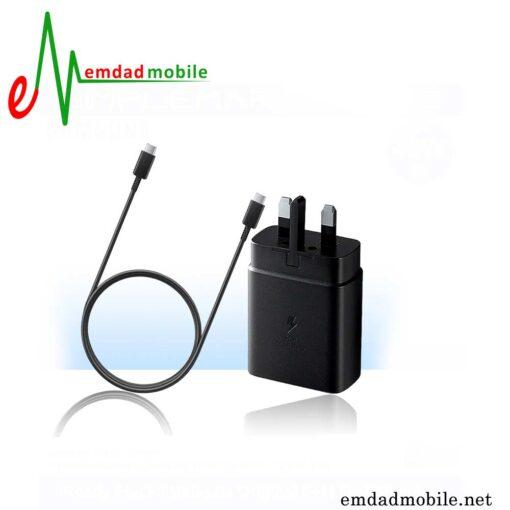 شارژر، کابل شارژ و آداپتور فست شارژ تایپ سی اصلی سامسونگ Samsung Galaxy A90 5G