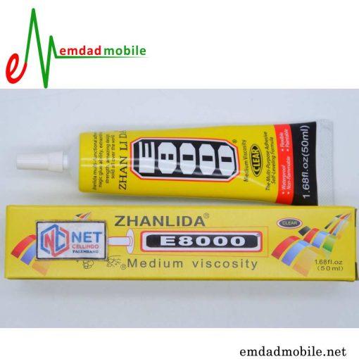 قیمت خرید چسب بی رنگ 50mL مخصوص تعمیرات موبایل Zhanlida E-8000