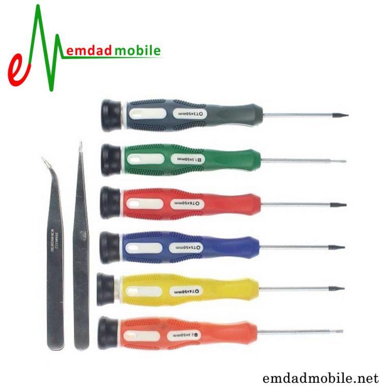 قیمت خرید ست پیچ گوشتی 8 عددی تعمیرات موبایل مدل Baku Bk-6020