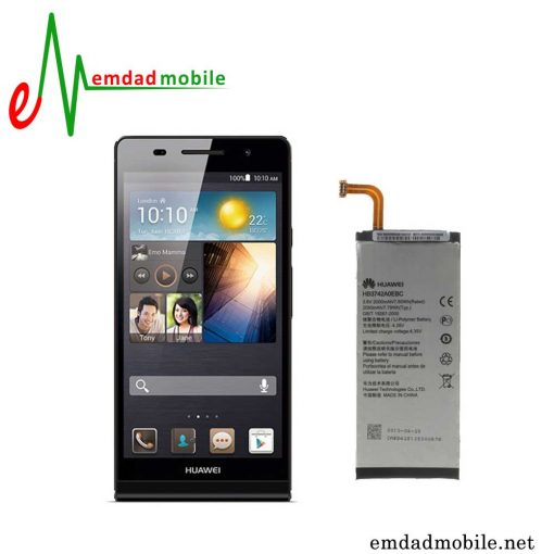 قیمت خرید باتری اصلی گوشی هوآوی Huawei Ascend P6 باآموزش تعویض