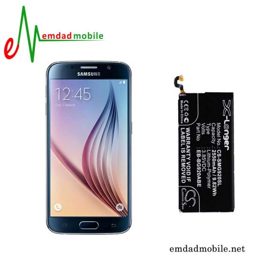 باتری اصلی گوشی سامسونگ Galaxy S6-G920F با آموزش تعویض