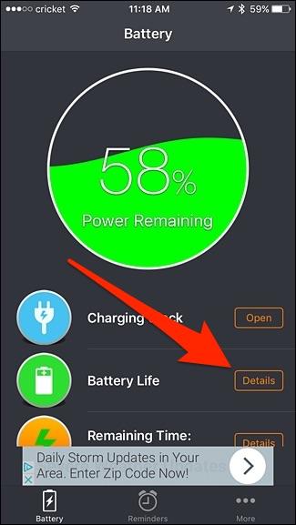 سلامت باتری آیفون با Battery Life Doctor - 2