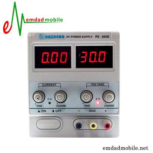 قیمت خرید منبع تغذیه 30 ولت و 5 آمپر مدل DAZHENG PS-305D