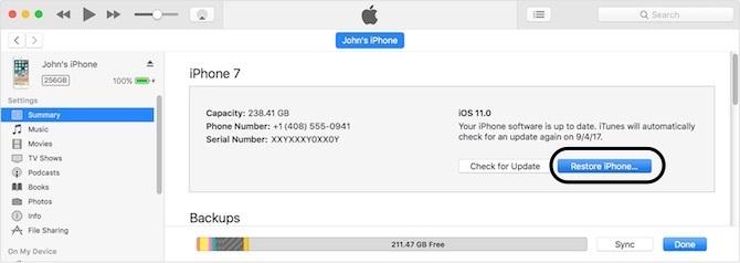 باز کردن آیفون هنگام مشاهده اخطار Disabled iPhone/iPad Using iTunes