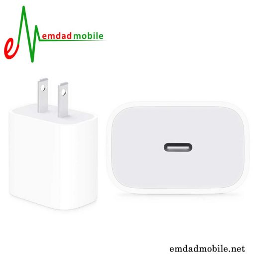 قیمت خرید آداپتور 2 پین فست شارژ اصلی آیفون iPhone