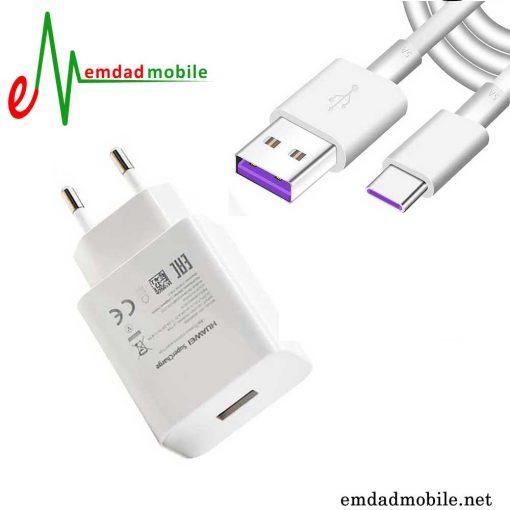 قیمت خرید شارژر، کابل شارژ و آداپتور فست شارژ تایپ سی اصلی هواوی Huawei Nova 5Z