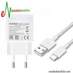 قیمت خرید شارژر، کابل شارژ و آداپتور فست شارژ تایپ سی اصلی هواوی Huawei P10 Plus